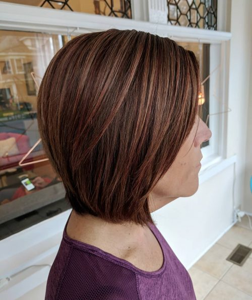 Dark Red and Blonde Highlights
