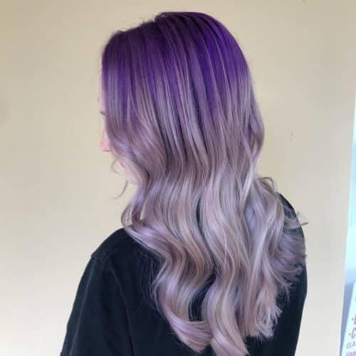 Dark to Light Purple Ombre