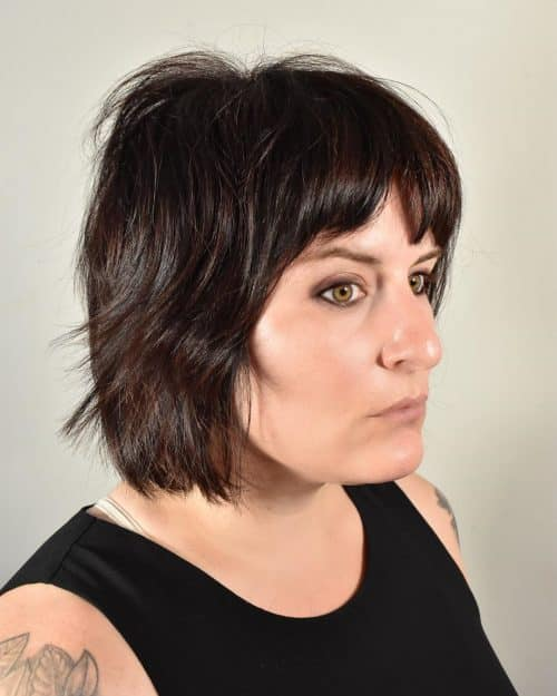Bob Haircut for fine hair and round face