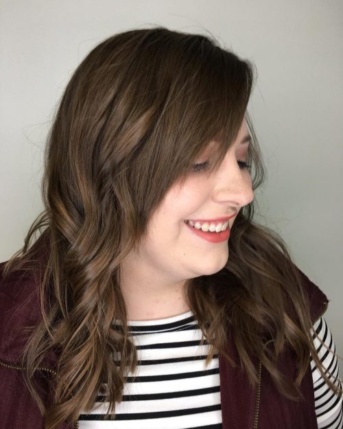 Freshly Layered Side Swept Bangs