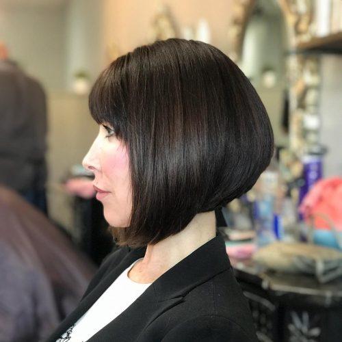 Wedge haircut With Bangs