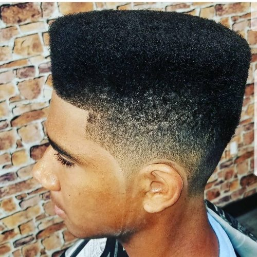 High Top with a High Taper Fade