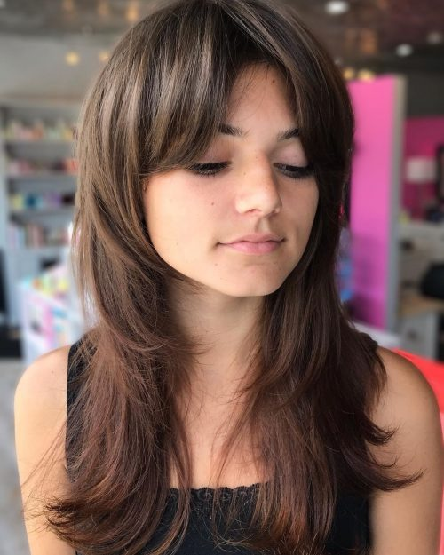 Layered Feathered Hair
