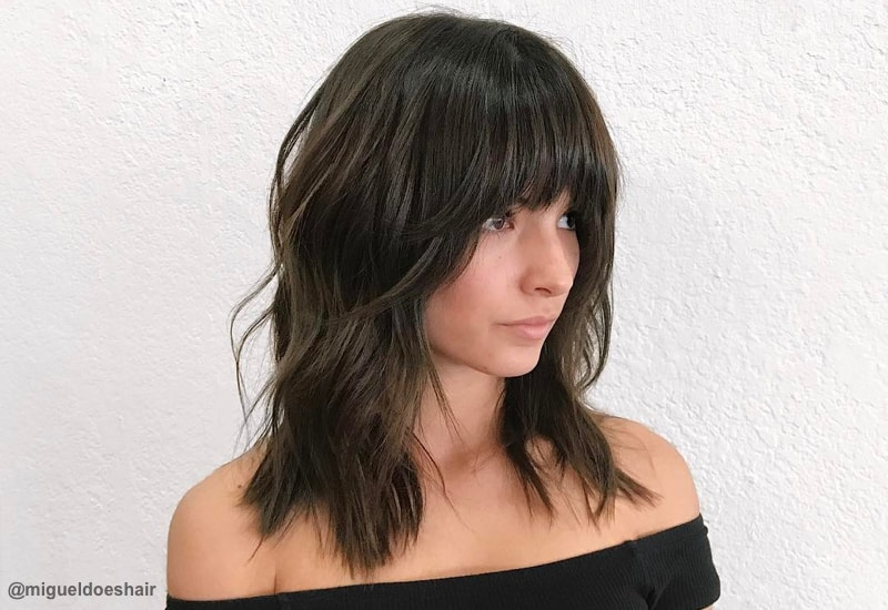 18 Hottest Layered Haircuts With Bangs For 2019