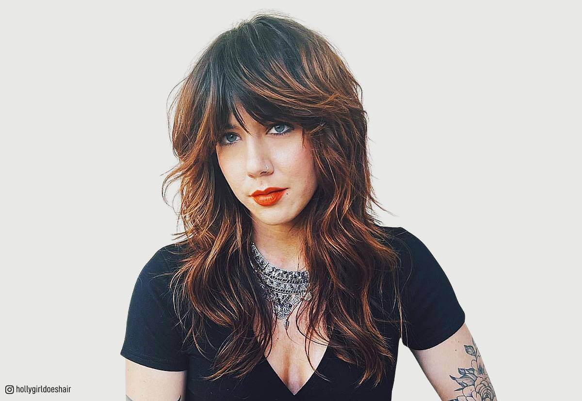 38 Flattering Long Hair With Bangs Hairstyles (2019 Trends)