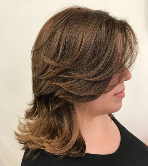 10 Hottest Medium Length Layered Haircuts Hairstyles For 2019