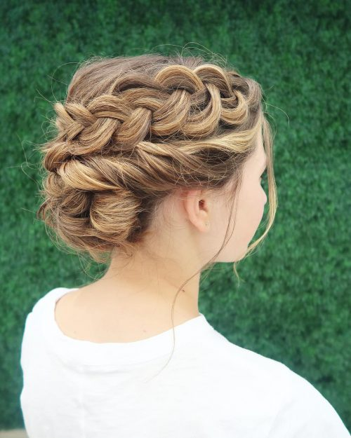 Lovely Loose Braid Updo