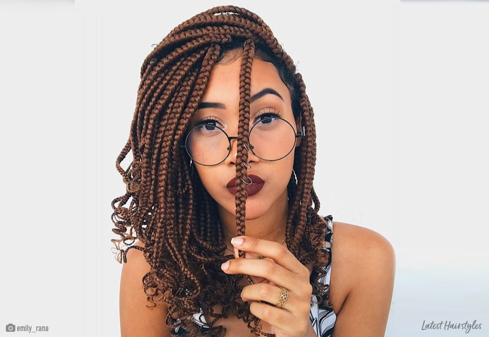 14 Easy Medium Box Braids to Try This Season