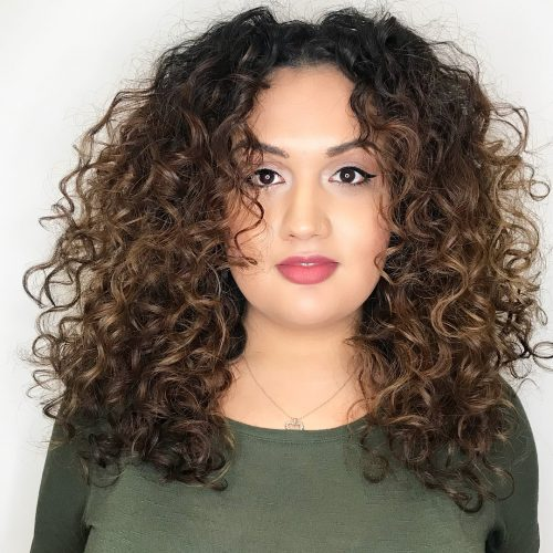 Curly Hair Square Face