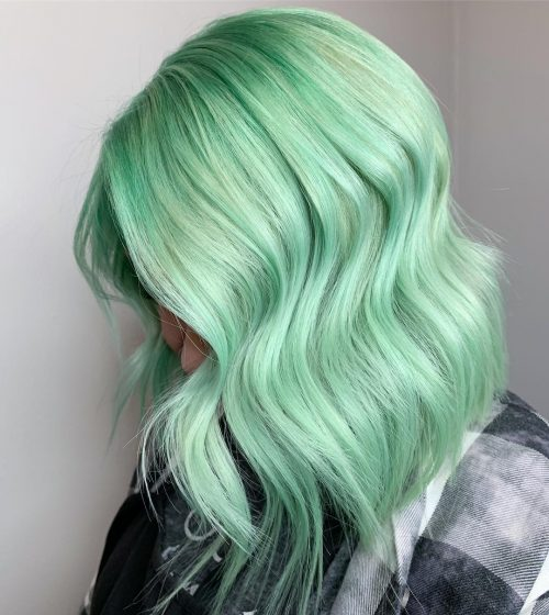 Mint Pastel Hair Color