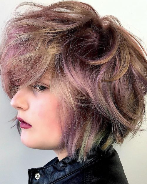 A muted edge bob haircut