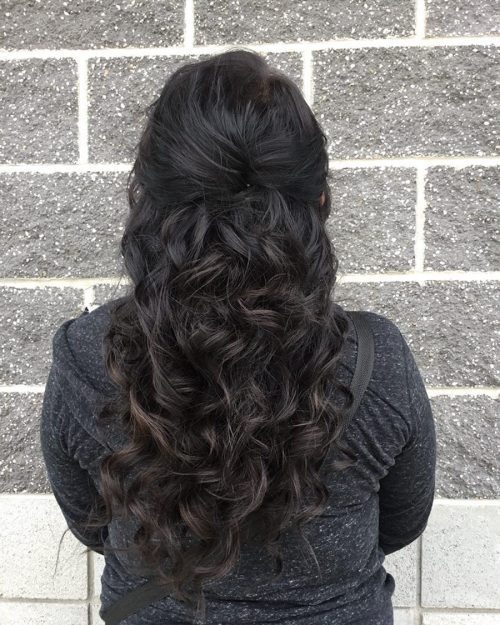 Picture of a night out curls date night hairstyle