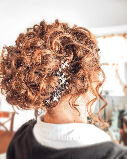 Perfect Curly Bun for Curly Hair