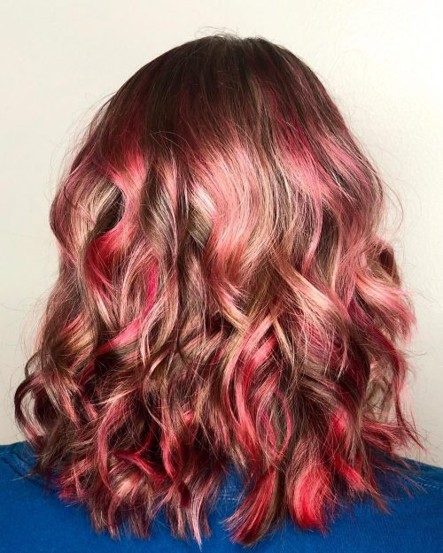 Light Brown Hair With Red And