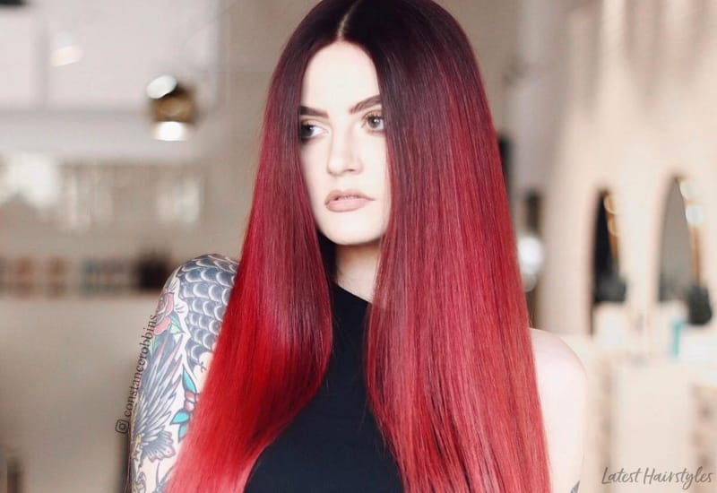 27 Blazing Hot Red Ombre Hair Color Ideas In 2019