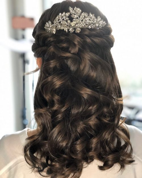 Romantic Half Up with Hairpiece