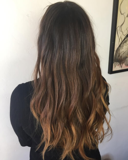 Ombre Brown To Black Hair