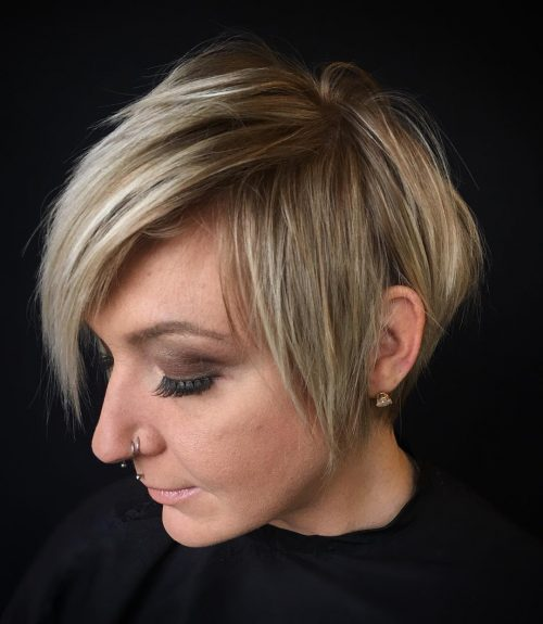 Shaggy Pixie Cut with Side Bangs