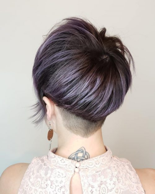 Short Lavender Hair Color