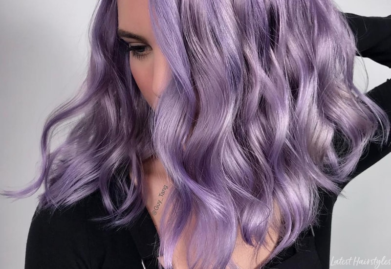 17 Hottest Silver Purple Hair Colors of 2
