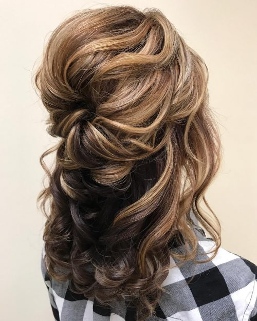 Long Churidar For Wedding As Guest With Hair Style: Mother Of The Bride Hairstyles: 26 Elegant Looks For 2020