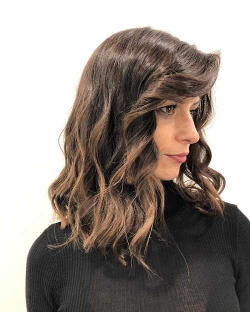 The Trendiest Long Bob with Bangs