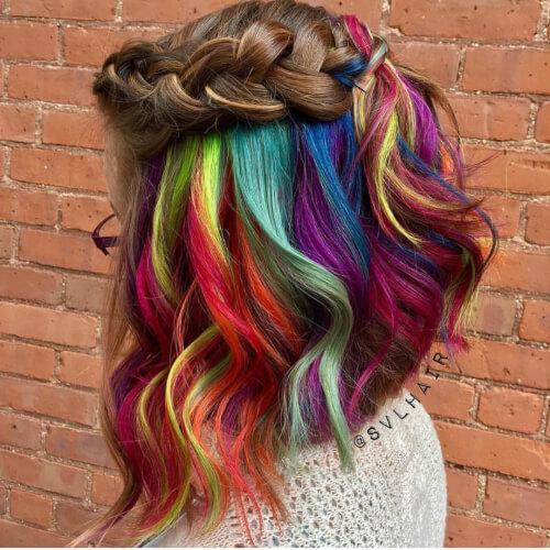 29 Colorful Rainbow Hair Ideas Trending In 2019