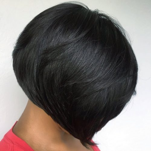 short bob weave hairstyle for black woman