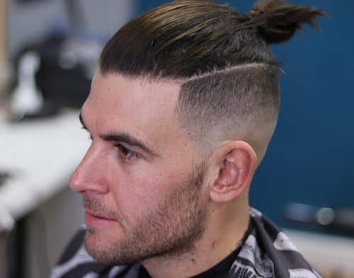 11 Awesome Man Bun Hairstyles With A Fade For 2019