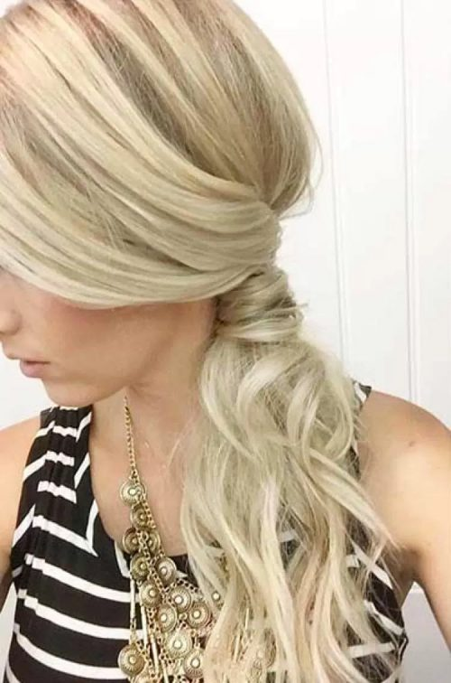 Wrapped side ponytail hair idea